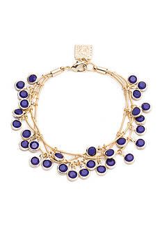 Anne Klein Gold-Tone Cobalt Multistrand Shaky Bracelet