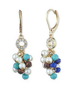 Anne Klein Gold-Tone Cluster Drop Earrings
