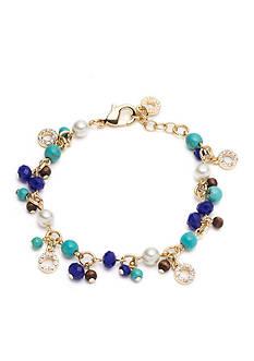 Anne Klein Gold-Tone Beaded Shaky Bracelet