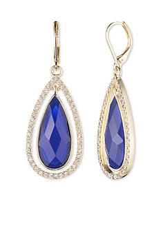 Anne Klein Gold-Tone Blue Teardrop Earrings