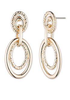 Anne Klein Gold-Tone Double Drop Earrings