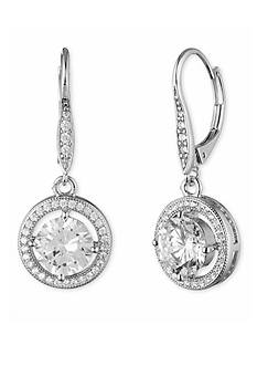 Silver-Tone Anne Klein Crystal Drop Earrings
