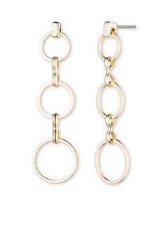 Anne Klein Gold-Tone Triple Drop Earrings