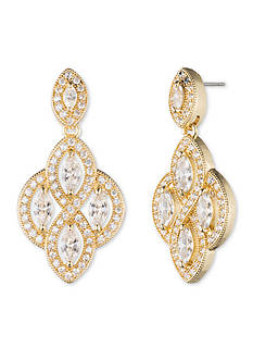 Anne Klein Gold-Tone Crystal Chandelier Earrings