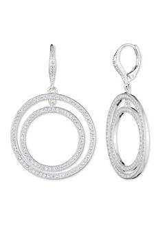 Anne Klein Silver-Tone Double Hoop Earrings