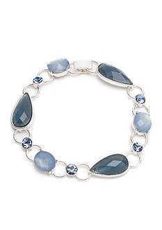 Anne Klein Silver-Tone Denim Stone Strand Bracelet