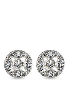Anne Klein Silver-Tone Crystal Stud Earrings
