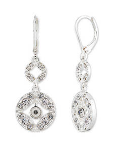 Anne Klein Silver-Tone Crystal Drop Earrings