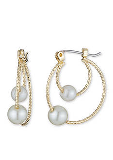 Anne Klein Gold-Tone Pearl Stud Earrings