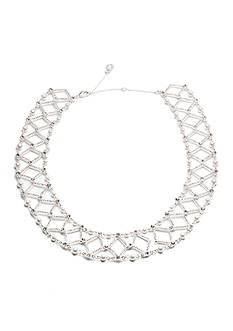 Anne Klein Silver-Tone Drama Pearl Collar Necklace