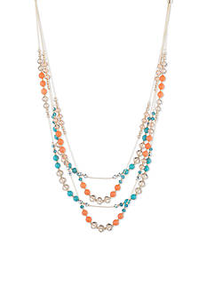 Anne Klein Gold-Tone Spice Multi Strand Necklace