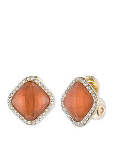 Anne Klein Gold-Tone Square Clip Earrings