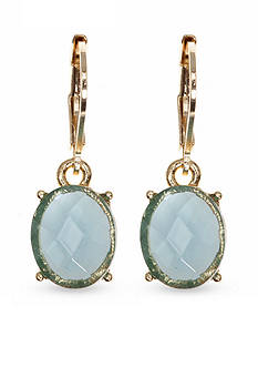 Anne Klein Gold-Tone Blue Drop Earrings