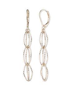 Anne Klein Gold-Tone Open Link Drop Earrings
