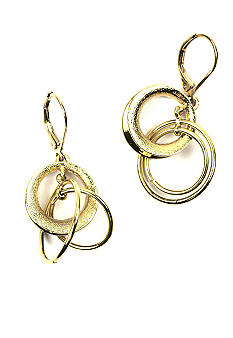 Anne Klein Pierced Leverback Circle Drop Earrings