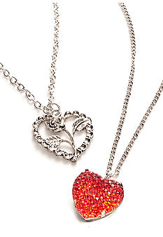 Red Camel® 2-Piece Heart Necklace Set