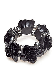 Red Camel Black Flower Stretch Bracelet
