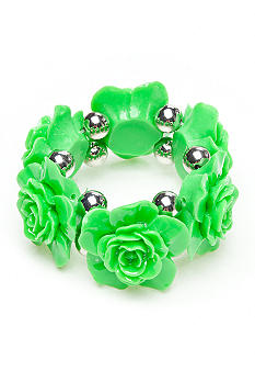 Red Camel Green Flower Stretch Bracelet
