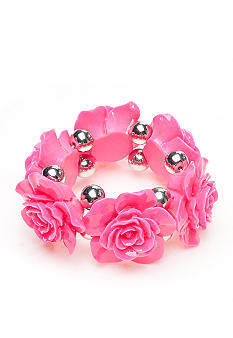Red Camel Pink Flower Stretch Bracelet