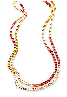 Red Camel Color-Block Chain Necklace