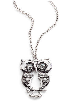 Red Camel Stone Owl Necklace