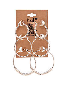 Red Camel Trio Hoop Earring Set