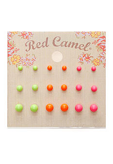 Red Camel 9 Pair Stud Earring Set