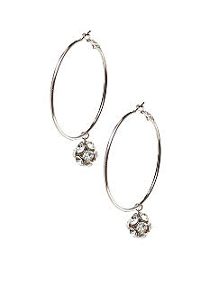 Red Camel® Silver Fireball Hoop Earrings