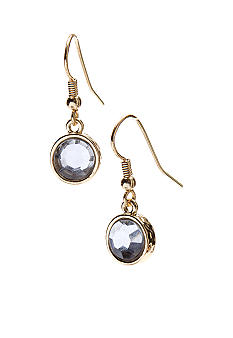 Kim Rogers Gold Tone Crystal Drop Earrings