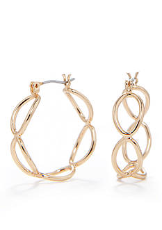 Kim Rogers Plated Cutout Oval Hoop Earring