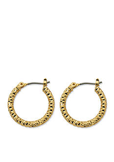 Kim Rogers Gold-Tone Small Hoop Earrings