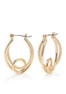 Kim Rogers Gold-Tone Plated Loop Hoop Earring