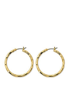 Kim Rogers Gold-Tone Blair Hoop Earrings