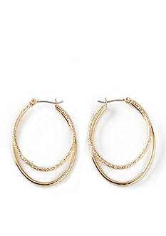 Kim Rogers Smith Oval Hoop Earrings