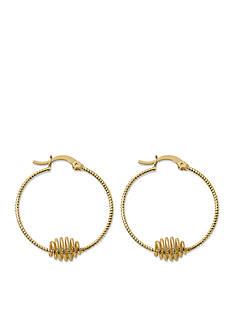 Kim Rogers Gold-Tone Spiral Hoop Earrings