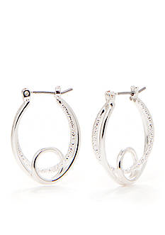 Kim Rogers Silver-Tone Plated Double Hoop Earrings