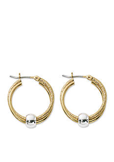 Kim Rogers Two-Tone Twisting Loop Hoop Earrings