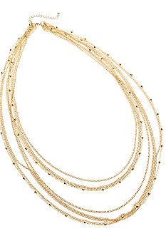 Kim Rogers 30 Inch Gold Plated Multi Strand Necklace