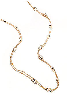 Kim Rogers Gold Plated 72 Inch Open Cage Necklace