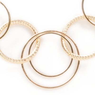 Fashion Chain Necklace: Gold Kim Rogers Rings and Discs Chain Necklace