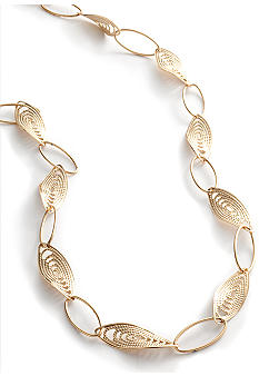 Kim Rogers Gold Plated Chain with Large Filigree Oval Links