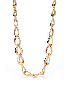 Kim Rogers Gold-Plated Double Oval Necklace
