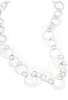 Kim Rogers Silver Plated 32 Inch Open Link Necklace