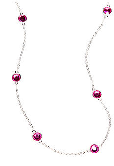 Kim Rogers Chanel Necklace with Fuchsia Stones