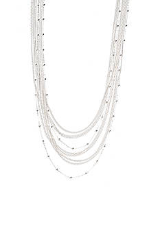 Kim Rogers Silver Plate Fashion Station Necklace