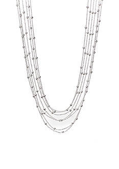 Kim Rogers Multi Strand Silver Tone Fashion Necklace