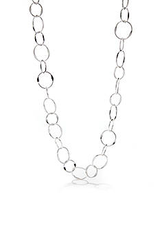 Kim Rogers Silver-Plated Triple Oval Link Necklace