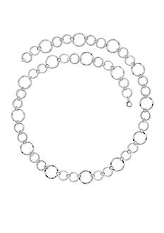 Kim Rogers Silver-Tone Open Textured Circles Necklace