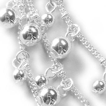 Jewelry & Watches: Kim Rogers® Fashion Jewelry: Silver Kim Rogers Sweet Belle Multistrand Collar Necklace