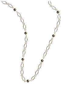 Kim Rogers® Silver Tone Chain with Bead Stations Necklace